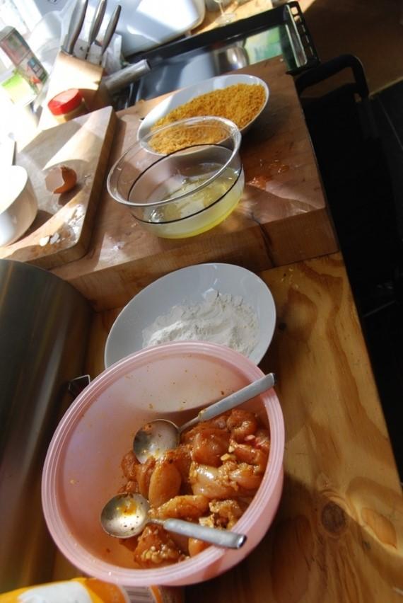 Thaise kipnuggets | Paneren