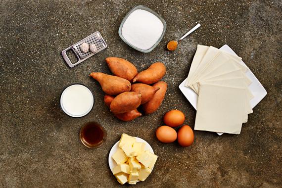 Zoete aardappeltaart | Ingrediënten
