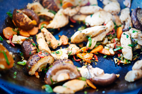 Shiitaken bakken| Chow mein