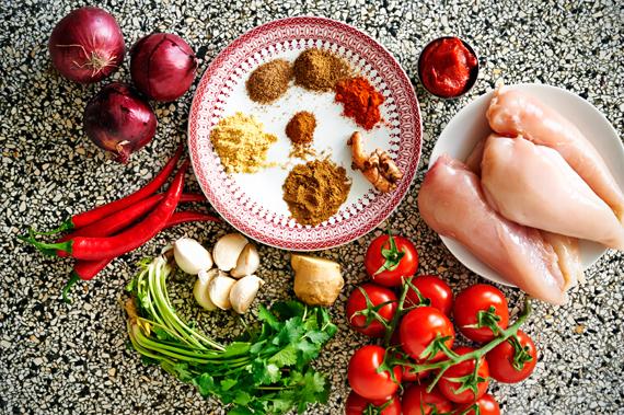 Ingrediënten - Zelf vindaloo maken (Indiase curry)
