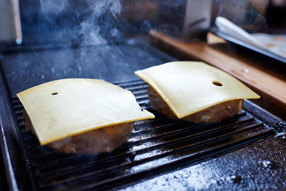 Kaas op de hambugers